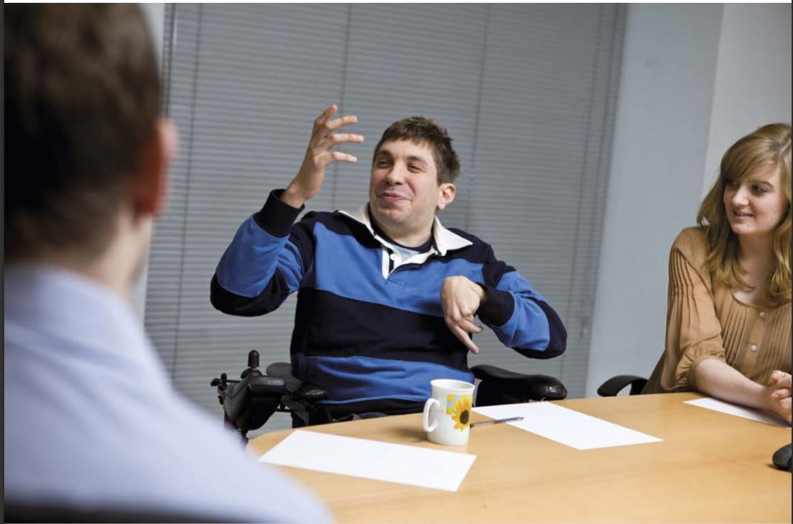 Disabled Person in ISP Meeting